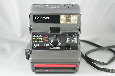 Polaroid 636 Talking Instant Camera Recordable Message with Case Tested Working