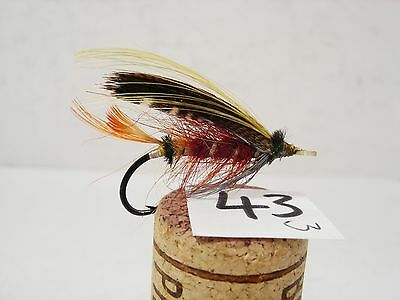 Vintage Antique Salmon Sea Trout Gut Eye Fly Size 3