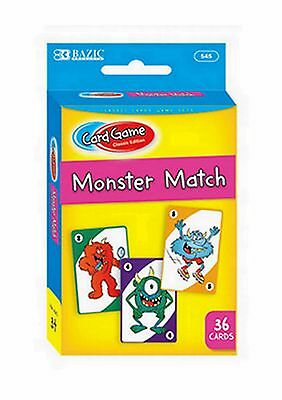 New Monster Match Kids Classic Card Game Playing Cards Deck 36 Cards
