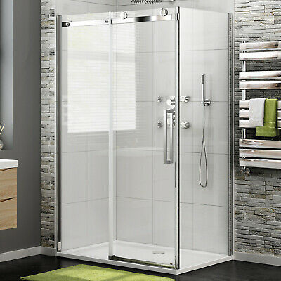 1200x800/900x1950 NEW Frameless Sliding Shower Screen Door+ Fixed Panel Optional