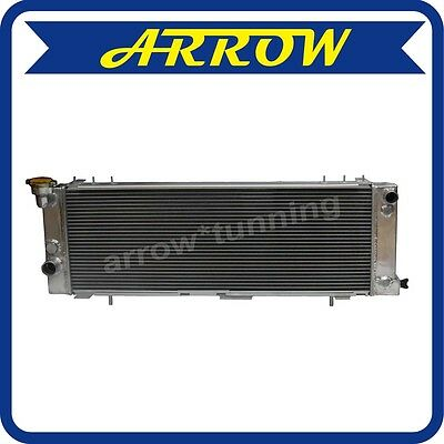 3 Row Aluminum Radiator For Jeep Cherokee Xj 94-01 4.0L Trans Cooler Driver Side