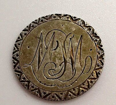 Edward  Love Token Initials Monogram MM WW Canada 10 Cents Silver Dime