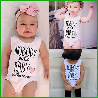 Baby Girl Romper - Nobody Puts Baby in the Corner - 0-24 Months