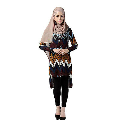 Muslim Loses Hemd Frauen Casual Kleid Kaftan Abaya Turkish Blouses Robe Kleid