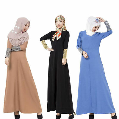 Mode Turkey Islamic Frauen Robes Kaftan Abaya Muslim Lange-sleeve Kleidung Gown
