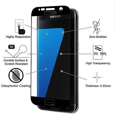 Samsung Galaxy S7 Tempered Glass Screen Protector 9H Hardness 3D Full Coverage