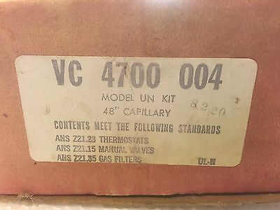 "Robertshaw Uni-line  - 4700-004 - UN and UNF Gas Oven Thermostat - 48"" Cap.  NOS"