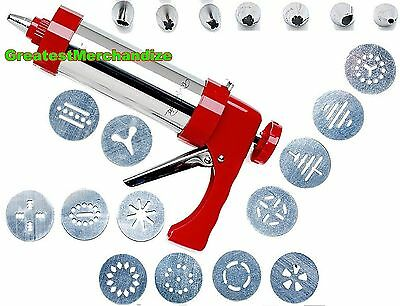 Wolfgang Puck 22-piece Stainless Steel Cookie Press Set - Red