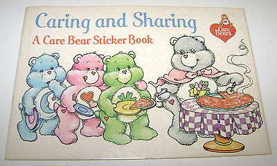 Vintage Care Bears Caring & Sharing Sticker Book Nos New Unused Pizza Hut 1984