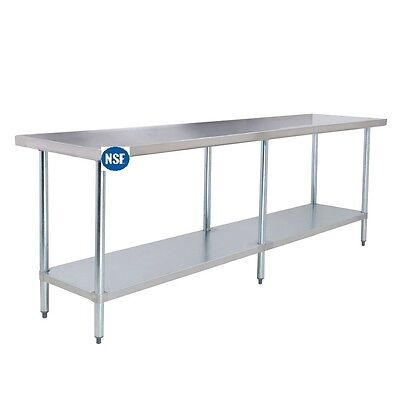 Commercial Stainless Steel Work Table - 30 x 96 - Heavy Duty L&J