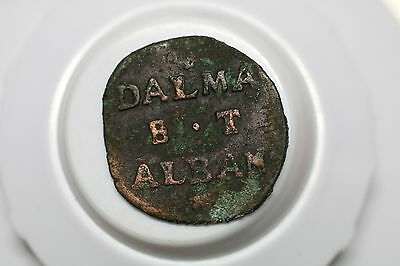 Italy Albania & Venetia 2 Soldi Old Medieval Coin Nice Details A57 #z2443