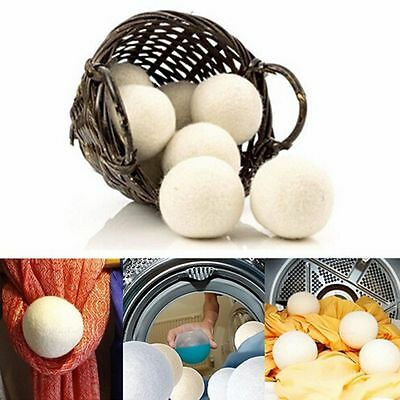 Home Wool Felt Dryer Balls Natural Reusable Handy Laundry Saves Drying Time