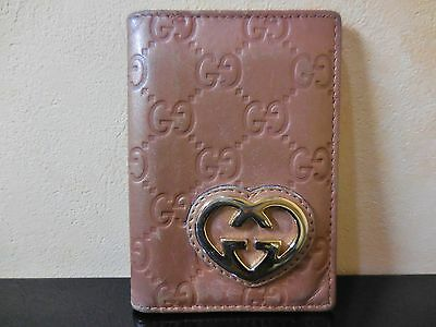 GUCCI leather Card Case Flesh color very good condition.!!!