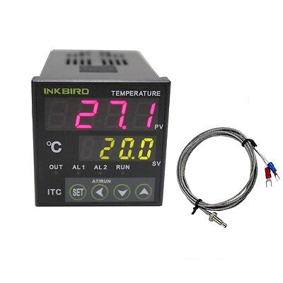 ITC-100RH Digital Pid Temperature Controller thermostat 110v - 240v + k sensor