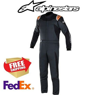 Alpinestars GP Race Suit (2-Layer) - Black - All Sizes - SFI 3.2A/5 Certified