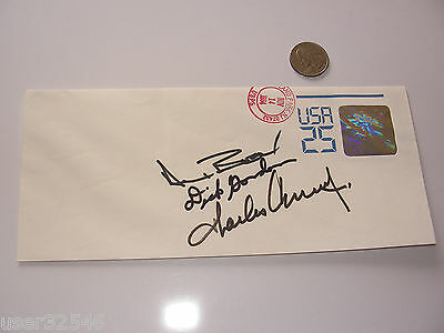 Apollo XII 12 Crew Signed/Autographed Postal Holographic Stamp Cover NASA 25th