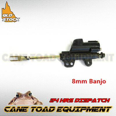 8mm Banjo Rear Hydraulic Brake Master Cylinder ATV PIT PRO Trail Dirt Bike