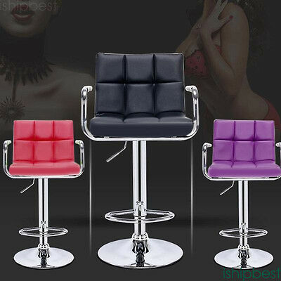 2 Swivel Bar Stool  Height Adjustable Barstools For Home Kitchen Breakfast Party