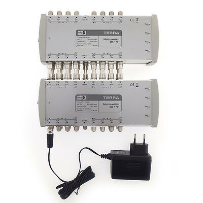 Cascadable 2x SAT-TV Multiswitch Terra 1751 / 17 IN x 8 OUT