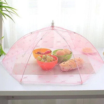 Outdoor Food Protector Cover Dish Umbrella Mesh Net Covers Dustproof for Kitchen