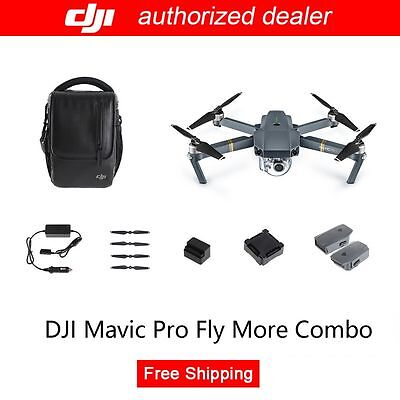 DJI Mavic Pro Fly More Combo RC Quadcopter Drone & Active Track, Free Shipping