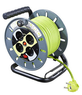 25M Open Reel - 4 Sock - Led Indic - Safety Thermal Cut-Out