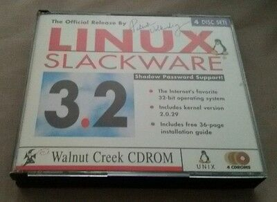 Linux Slackware 3.2 operating system Walnut Creek CDROM 1997 (early Linux)