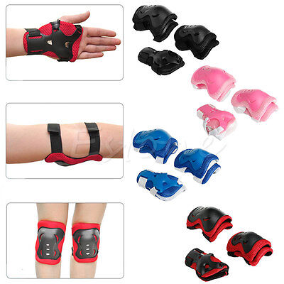 Kid Youth Elbow Knee Wrist Protective Guard Safety Gear pads skate bicycle