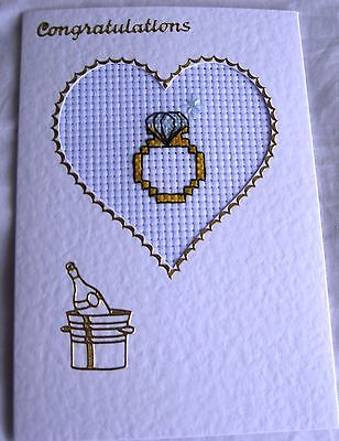Engagement Completed Cross Stitch 6x4""