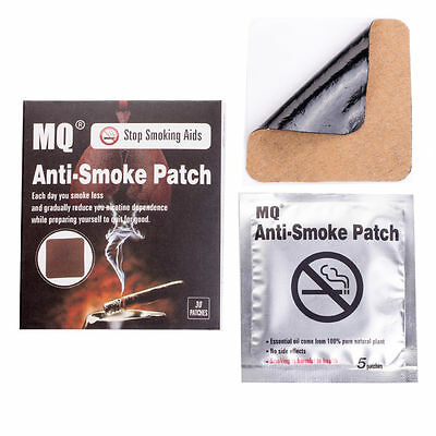 30 Patches MQ Stop Smoking Patch  all Herbal Nicotine Free Quit End Skin