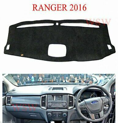 Dash Mat Dark Grey Carpet Cover Fit Ford Ranger Mk2 Facelift Wildtrak 2016-2017