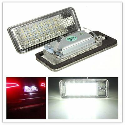 Pair 18 LED License Number Plate Light Lamp White For AUDI A3 S3 A4 S4 B6 B7 A6
