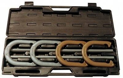 Champion Sports Steel Magnet Solid Horseshoe Set with Heavy Duty Carrying Case