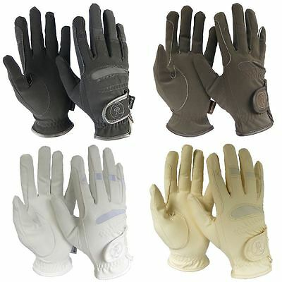 Ladies Womens Equestrian Horse Riding Cycling Padded Grip Protect Gloves XS-XXL