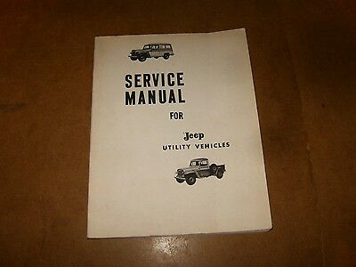 JEEP WILLYS L6-226 + F4-134 - MANUEL TECHNIQUE / SERVICE MANUAL - ?? 60/70's ??