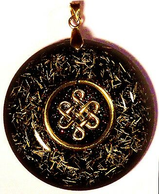 Orgonite pendant - Celtic knot Infinity, Rosicrucian amulet for success