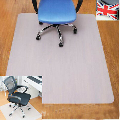 Home PP Hard Floor Protector Chair Mat Home Office Non Slip Chairmat White Color
