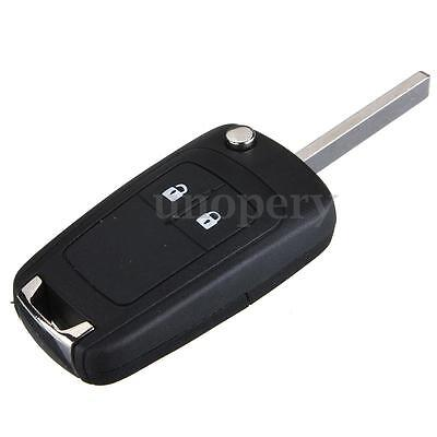for Vauxhall Opel Corsa Astra Insignia 2 Button Remote Flip Key Fob Case + Blade