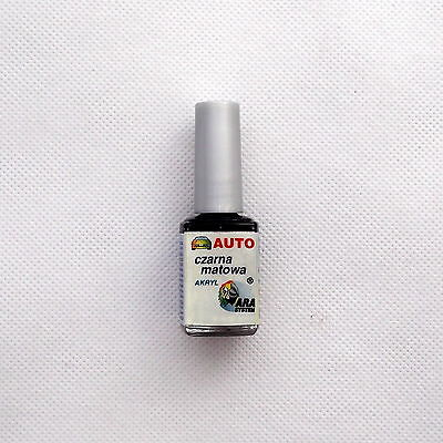 Opaque Mat Black Matt Car Motorbike Touch Up Paint Repair Universal 10 Ml