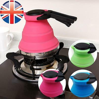 *UK Seller* Silicone Portable Kettle Foldable Collapsible Outdoor Camping