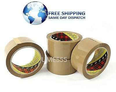 72 ROLL 3M ORIGINAL SCOTCH BUFF BROWN PACKING POSTAL PARCEL MAIL TAPE 48mmx66m