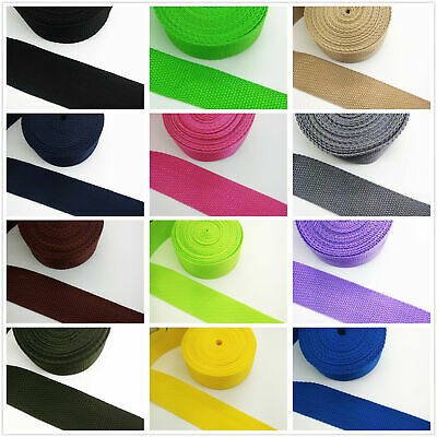 New Hot 22 Color 2/5/10/50Yards (25mm) 1inch Width Strap Nylon Webbing Strapping