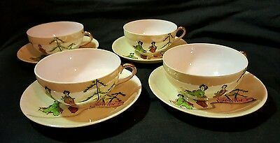 JAPANESE GENUINE SAMURAI CHINA TEACUPS & SAUCERS REG No 539405