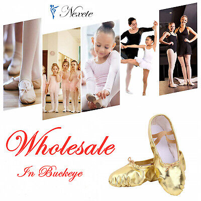 Wholesale     Ballet Dance Shoes New fashion Canvas Slipper Kids & Adult in USA