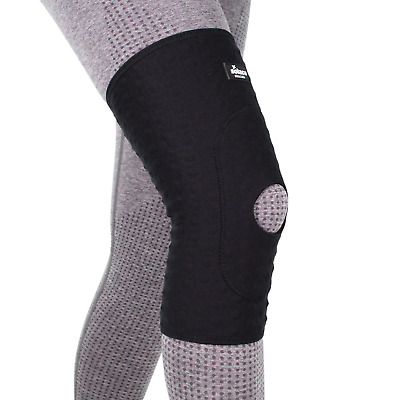 Solace Bracing Black Stomatex Ski Snowboard Injury Support Pull On Knee Sleeve