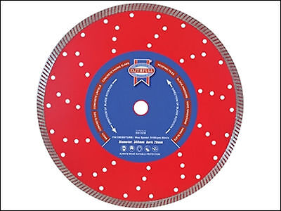 "Faithfull 230mm 9"" Diamond Cutting Disc for Brick Concrete Slate & Tiles"