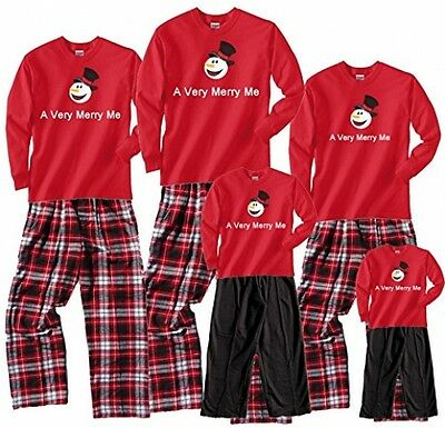 Matching Family Outfits Daddy Mommy Son Daughter Fun Snowman Plaid Pants Small
