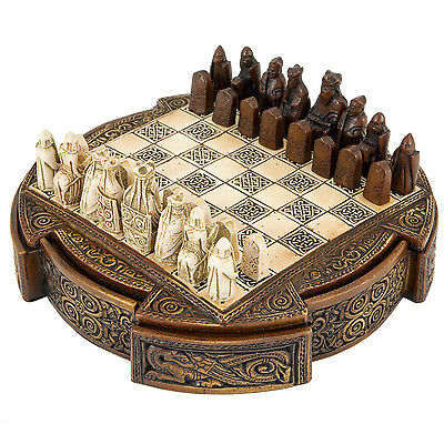 Isle Of Lewis Compact Celtic Chess Set 9 Inches NMS002