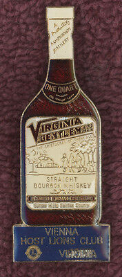 Vienna,virginia Gentleman Bourbon Whiskey,whisky,va.lions Club Pin