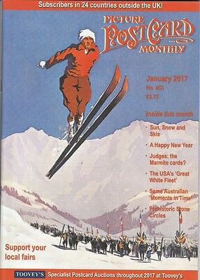 PICTURE POSTCARD MONTHLY MAGAZINE  -  January  2017 - PPM.